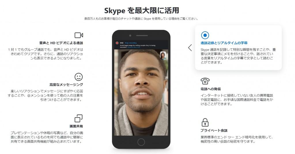 Skypeの機能